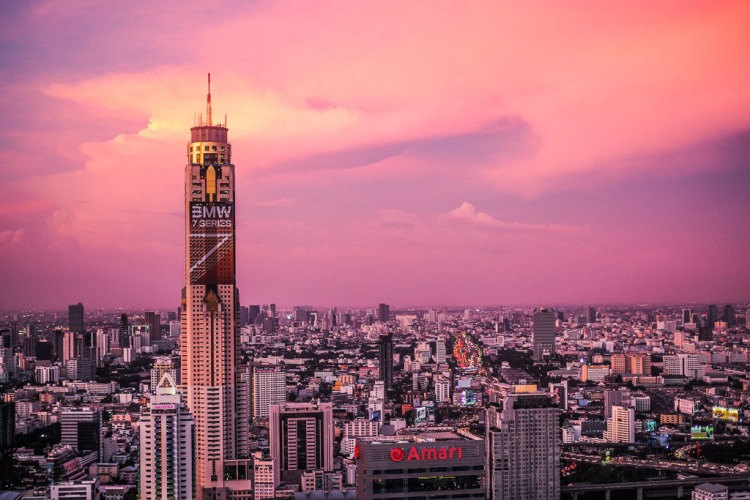 Bangkok Fairy Floss Sky Sunset