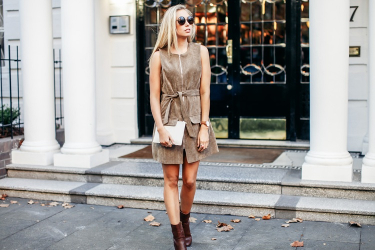 Brown Boohoo Dress